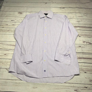 David Donahue Long Sleeve Button Shirt Large 16 32